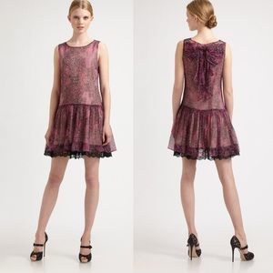 Red Valentino Silk Short Dress 38
